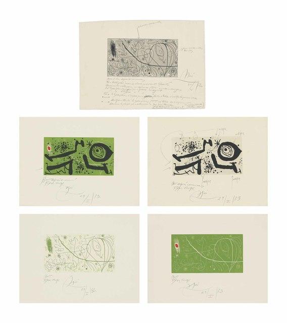 Joan Miró, 'Picasso i els Reventos', 1973, Christie's