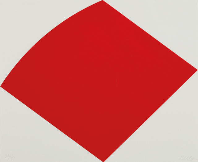 Ellsworth Kelly, 'Red Curve', 1996-1997, Phillips