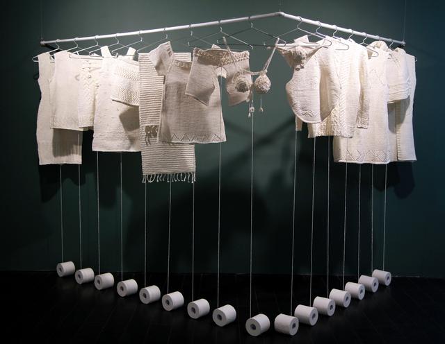 , 'Woven Toilet Paper,' 2014, Galerie Huit