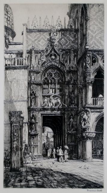 Francis Dodd, 'Porta della Carta, Venice', ca. 1920, Private Collection, NY