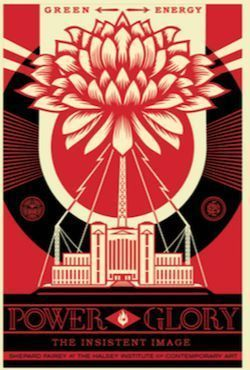 Shepard Fairey (OBEY), 'Power and Glory [RED]', 2014, Samuel Owen Gallery