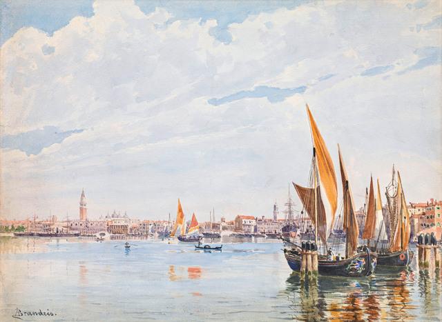 , 'Sailboats in the lagoon of Venice,' ca. 1890, Galerie Kovacek & Zetter