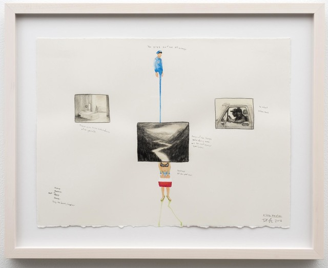 Dan Attoe, 'A little Vacation', 2016, Drawing, Collage or other Work on Paper, Graphite and India ink on Arches paper, Western Exhibitions
