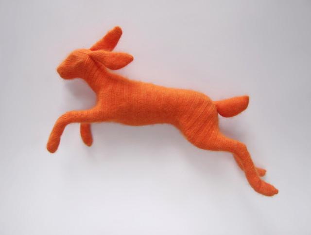 Rachel Denny, 'Orange Angora Rabbit', 2019, Sculpture, Mixed media, Visions West Contemporary