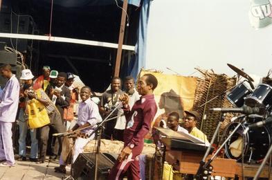 Fela Kuti at Lekki Sunsplash in Lagos 1, 1991
