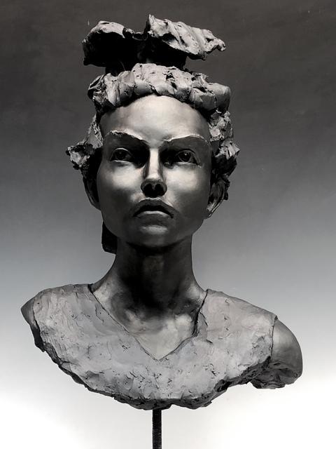 BOB CLYATT, 'Woman's Head- Green Day', 2019, Maria Elena Kravetz