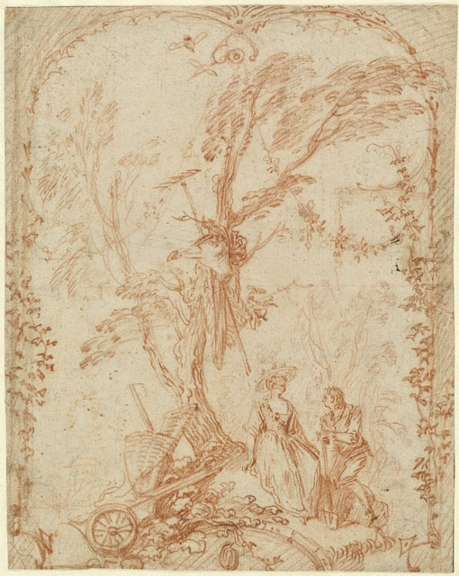 Jean-Antoine Watteau, 'The Gallant Gardener', ca. 1711-1712, National Gallery of Art, Washington, D.C.