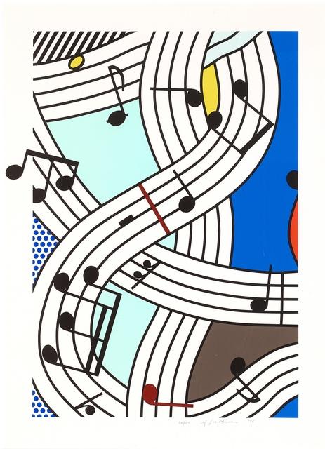 Roy Lichtenstein, 'Composition I', 1996, Print, Screenprint on Lanaquarelle watercolor paper., Fine Art Mia