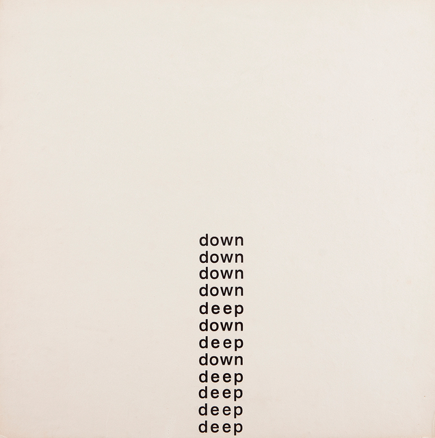 Willys de Castro, 'Cartaz Poema (Deep Down)', 1959, Galeria Frente
