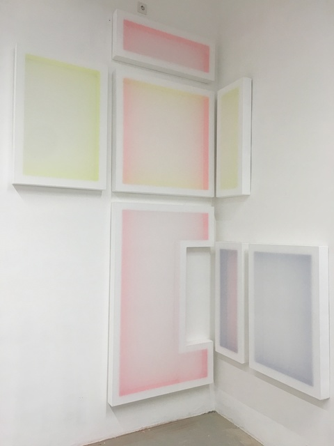 , 'Untitled (Composition with 3 Rectangles and 3 Colours),' 2017, Galerie Lisa Kandlhofer