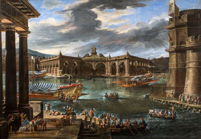 Viviano Codazzi, 'The Arsenal of Civitavecchia', 1668, Painting, Oil on Canvas, Alessandra Di Castro