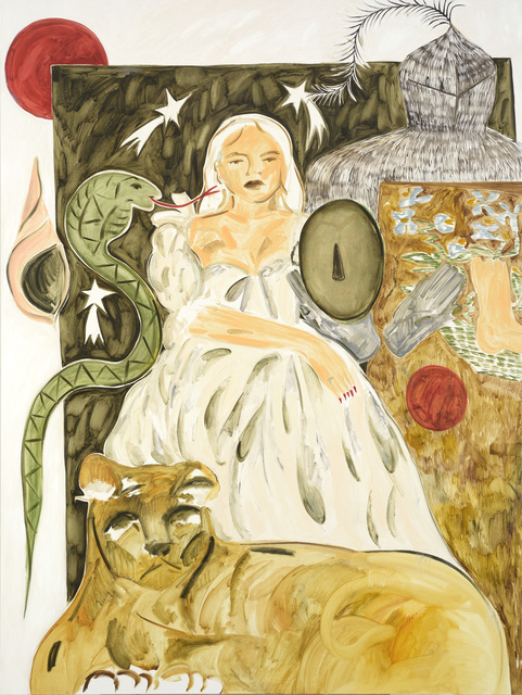 , 'Lady, Three White Leopards Sat Under a Juniper Tree,' 2017, Cob