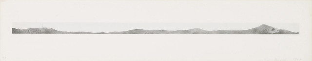 Ed Ruscha, 'Hollywood with Observatory', 1969, Print, Lithograph in colours on BFK Rives calendered paper, Christie's