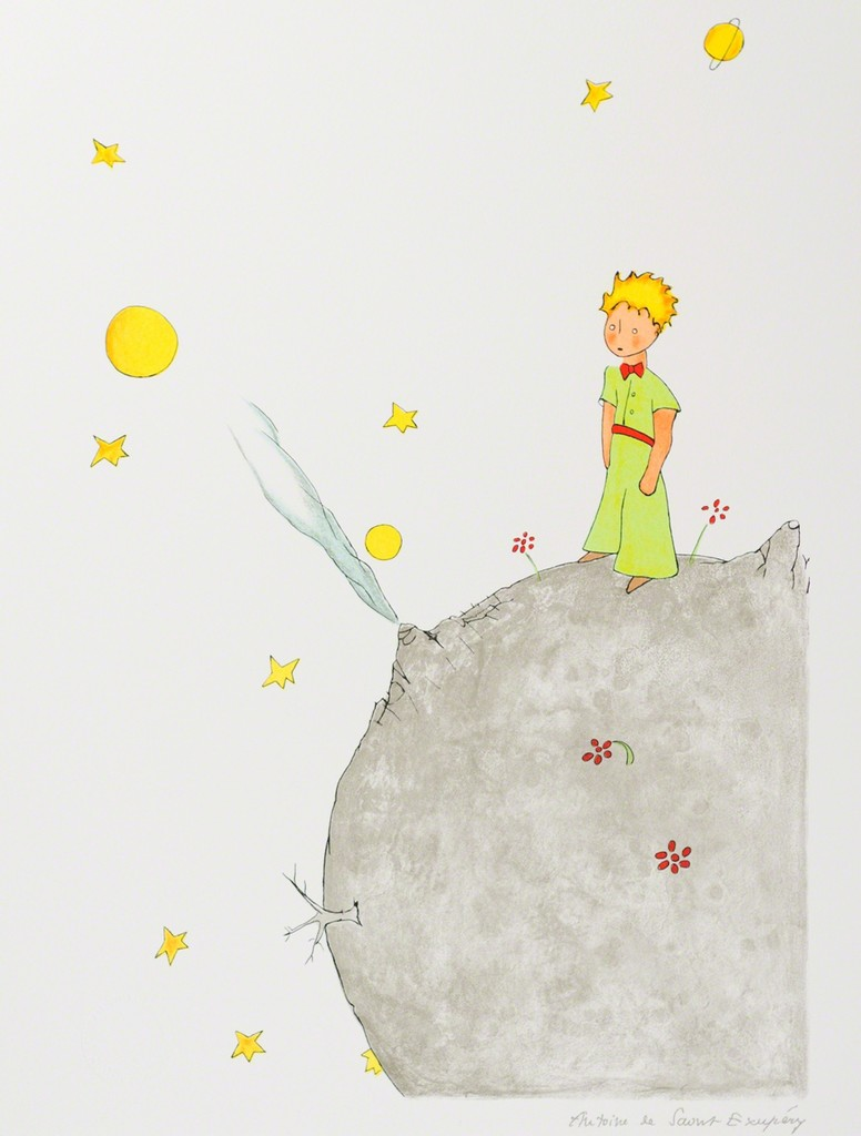 The Little Prince on Asteroid B-612