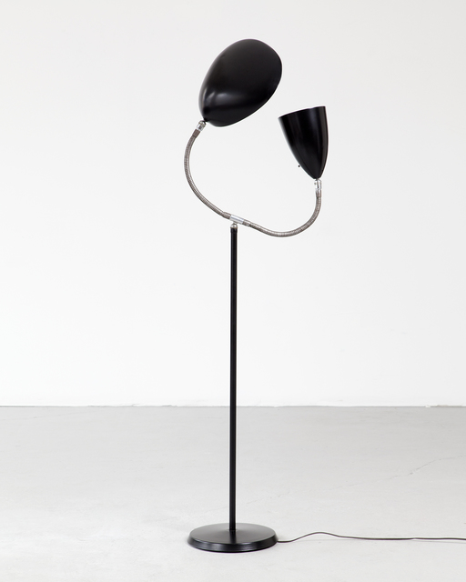 ", 'Floor lamp with one ""Grasshopper"" shade and one ""Cobra"" shade,' 1950, R & Company"