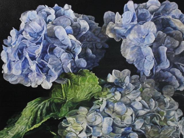 , 'Blue Hydrangeas II,' 2019, The Front Gallery