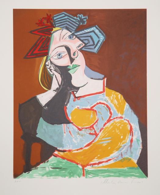 Pablo Picasso, 'Femme Accoudée au Drapeau Bleu et Rouge, 1932', 1979-1982, Print, Lithograph on Arches paper, RoGallery