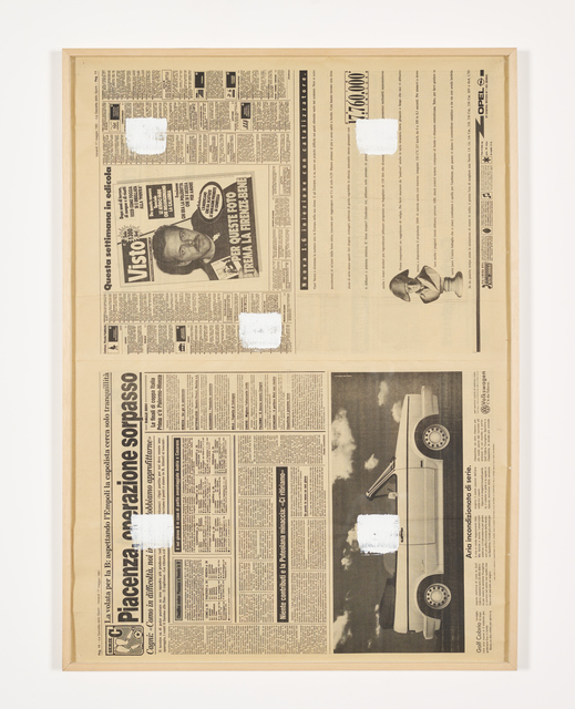 , 'Empreintes de pinceau n°50 à intervalles régulières (30cm), journal Italien,' 1991, Galerie Greta Meert