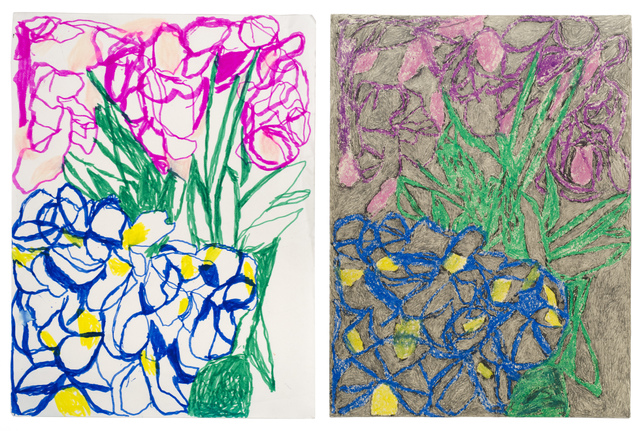 , 'Double Ballibay Flowers No. 2 (Diptych),' 2017, Fleisher/Ollman