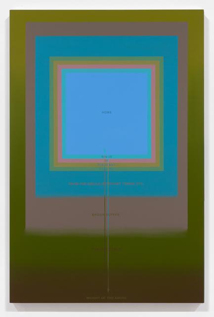 , 'Buoyant Home Template,' 2013, Luis De Jesus Los Angeles