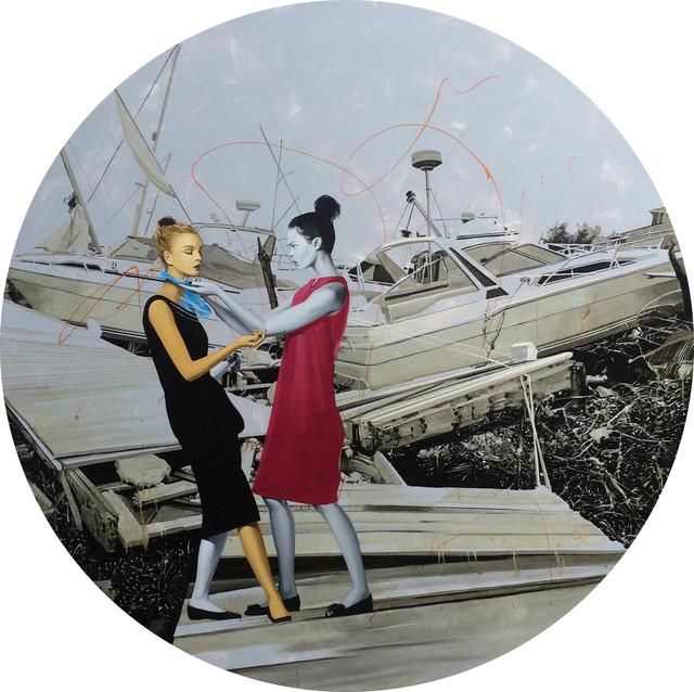 , 'REPARANDO LOS BARCOS,' 2015, saltfineart