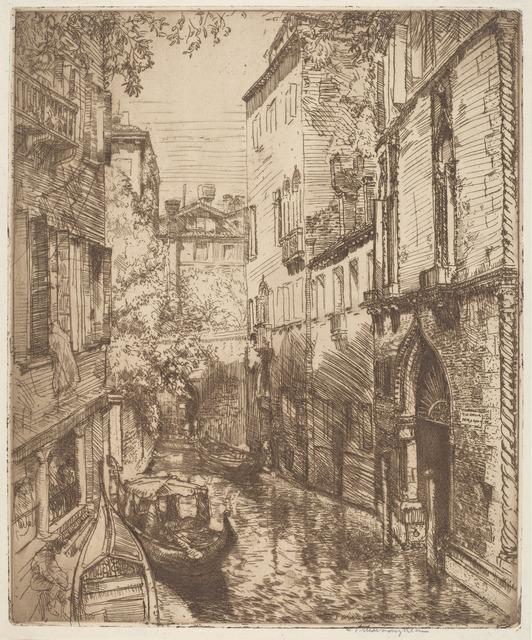 Donald Shaw MacLaughlan, 'Rio delle Verona, Venice', 1912, Print, Etching, National Gallery of Art, Washington, D.C.