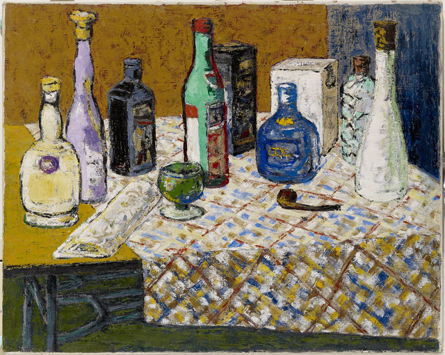 , 'Wine Bottles on the Table,' 1969, Powen Gallery
