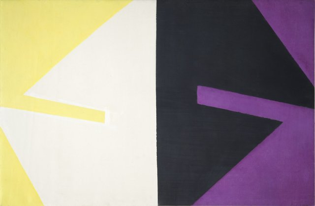 , 'Violet Black White and Yellow,' c.1959, Flowers