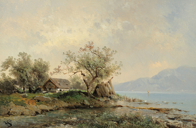 , 'At the Attersee,' ca. 1860, Galerie Kovacek