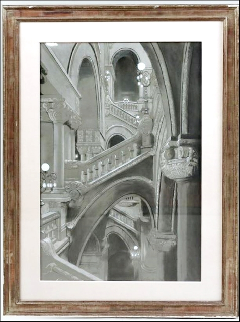 Richard Haas, 'Great Western Staircase, New York State Capitol Building, Albany (from Readers Digest Association Art Collection) ', 1980, Alpha 137 Gallery