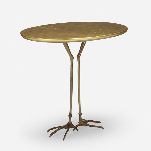 Méret Oppenheim, 'Traccia table from the Ultramobile collection', 1936, Design/Decorative Art, Gold leaf over wood, cast bronze, Rago/Wright