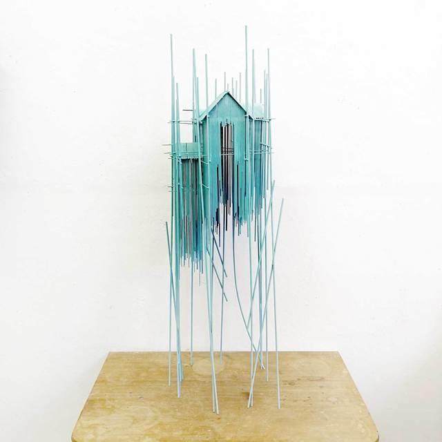 , 'Floating city Tower serie blue 01,' 2019, N2 Galería