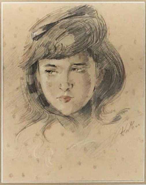 , 'Portrait de Jeune Fille (Mademoiselle Ellen Helleu),' ca. 1885, Fairhead Fine Art Limited