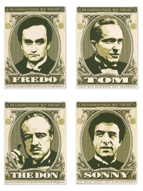 Shepard Fairey, 'In Godfather We Trust - Complete Series by Obey Giant (Shepard Fairey)', 2006, Wallector