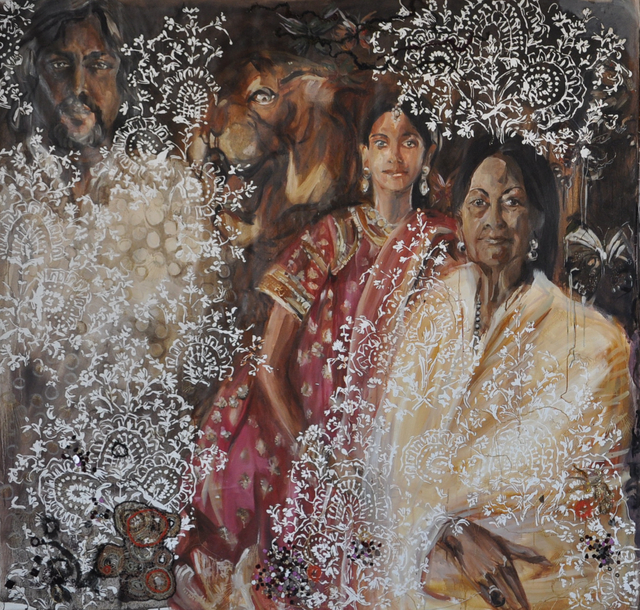 , 'Hyderabad family part 1,' 2009, Wide Painting