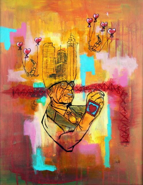 , 'Falling City,' 2016, Bitfactory Gallery