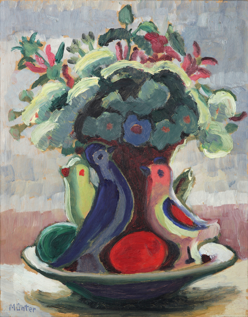 Gabriele Münter, 'Osterstilleben', ca. 1935, Painting, Oil on cardboard, Galerie Utermann