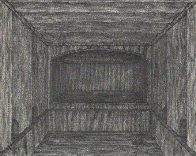 Hong Buhm, 'unnamed room #2', 2014, Drawing, Collage or other Work on Paper, Pencil, pen, ink, etching paper, Gallery SoSo