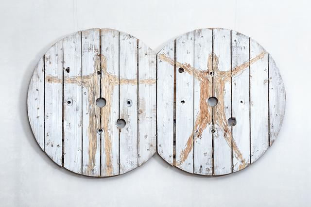 Nestor Engelke, 'WOODEN VITRUVIAN MAN', 2018, Anna Nova Gallery