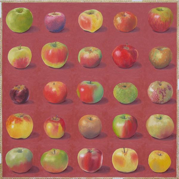 , 'Apples A to Z,' 2017, David Barnett Gallery
