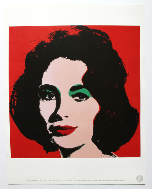 Andy Warhol, 'Liz', 1989, Reproduction, Offset lithograph on high quality paper, EHC Fine Art Gallery Auction