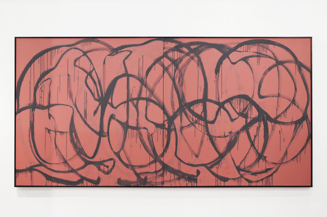, 'Was bleibt? (grey on pink, New York),' 2015, Galerie Thomas Schulte