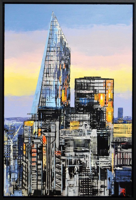 Paul Kenton, 'City Calm', 2020, Mixed Media, A signed original on aluminium by cityscape., Castle Fine Art
