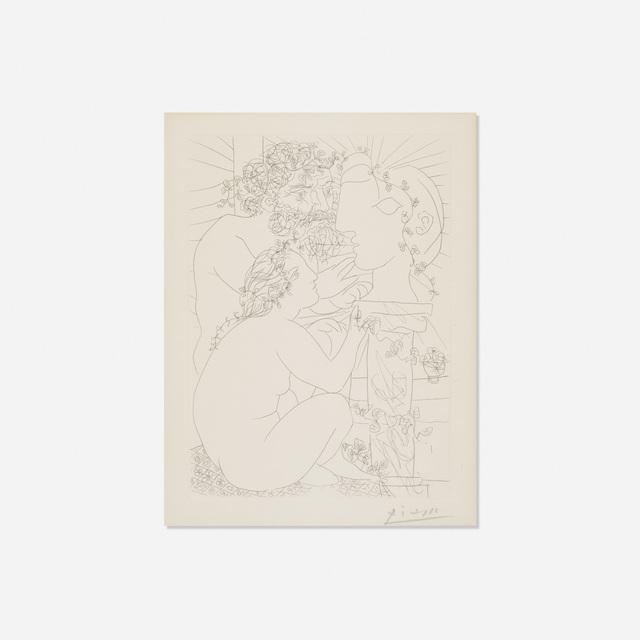 Pablo Picasso, 'Sculpteur, Modele accroupi et Tete sculptee from La Suite Vollard', 1933, Rago/Wright