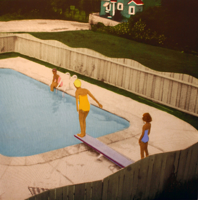 , 'Set of Four: The Swimming Pool Etchings (Yellow Suit Diver),' 2006, Paulson Fontaine Press
