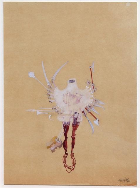 Shahzia Sikander, 'A Kind of Slight and Pleasing Dislocation (veiled shiva)', 1995, Hosfelt Gallery