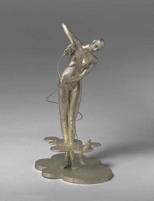 Cecilia Z. Miguez, 'Hand Line', 2019, Sculpture, White gold leaf and oil paint on bronze, Louis Stern Fine Arts
