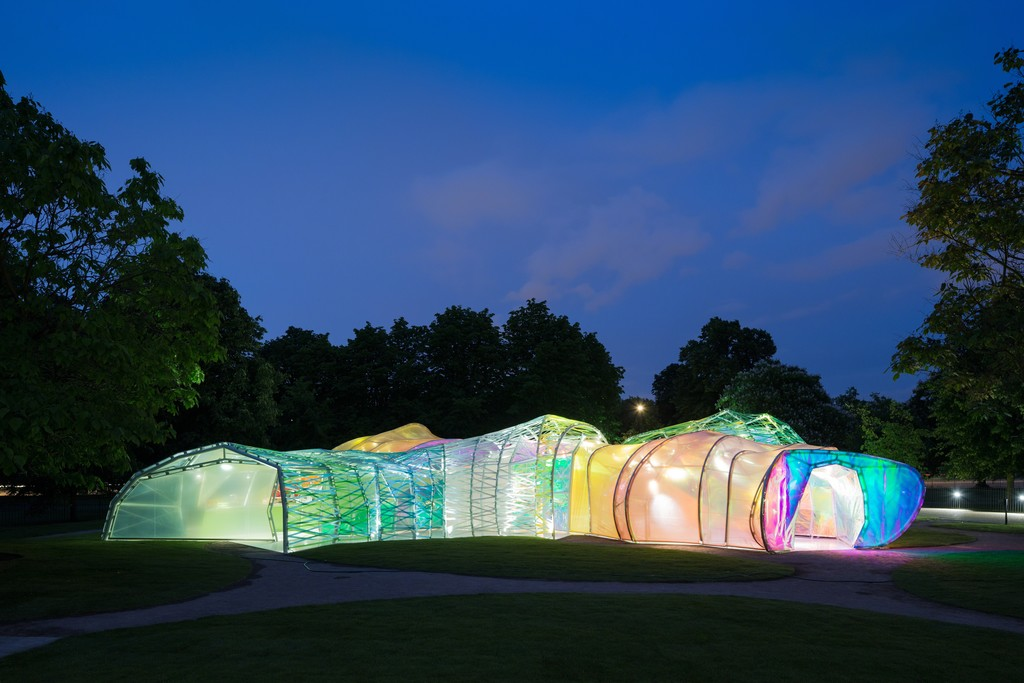 Serpentine Pavilion 2015 designed by selgascano. © Iwan Baan