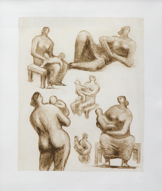 Henry Moore, 'Mother and Child Studies and Recling Figure', 1977, Heather James Gallery Auction