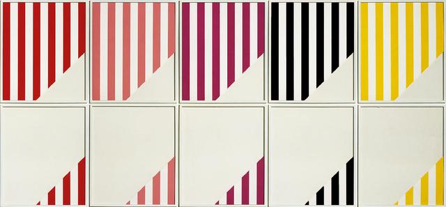 Daniel Buren, 'Five Out of Eleven (10 Panels)', 1989, Collectors Contemporary